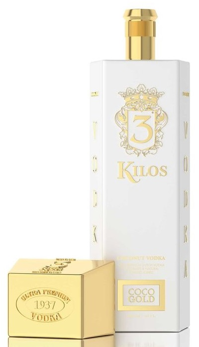 3 Kilos Coconut Vodka 37,5% 1L