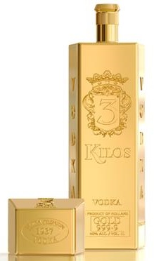 3 Kilos Vodka Gold 999,9 40% 1L
